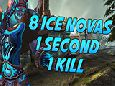 Frost Mage Kills with 8 Ice Novas in One Second Explanation
